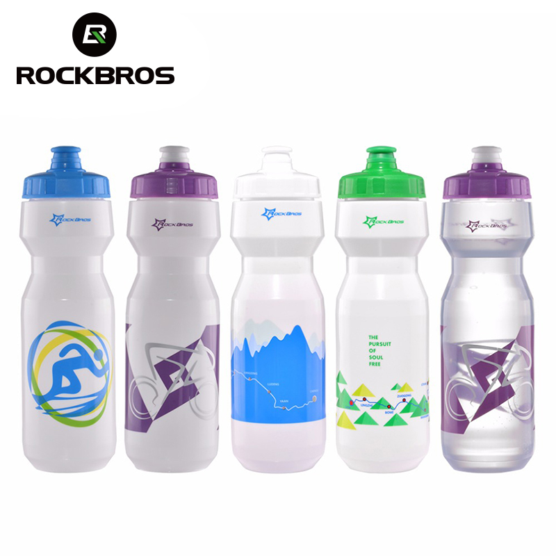 ROCKBROS Bicycle Water Bottles 750ml Cycling Outdoor Sports Water Bottles with Dust Cover Portable Plastic MTB Bike Bottles