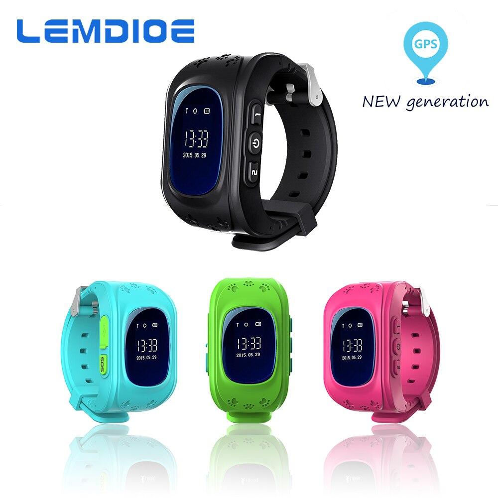 LEMDIOE Q50 Montre Smart Watch Téléphone Kid Safe GPS LBS Montre-Bracelet SOS Call Lieu Tracker pour Enfants Bébé Anti Perdu Montre PK Q60 Q90