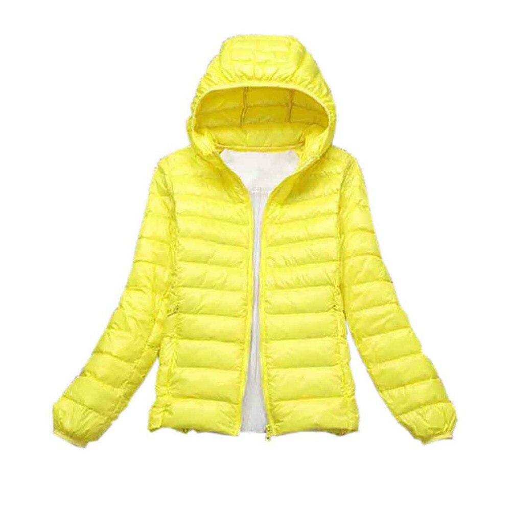 Womens white down coat