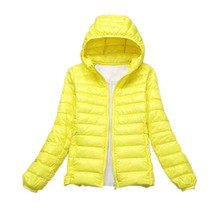 Teogo Quality Brand Spring Autumn Women Ultra Light Down 90% White Duck Down Jacket Coat ladies' Hooded Down Parkas 18 colors