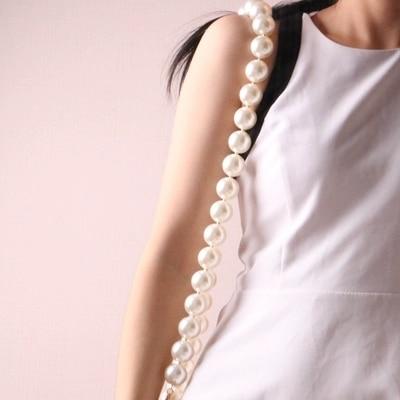 Designer Ladies Handbag Straps Pearls Handbag Belt Women Crossbody Bag Handle Accessory Shoulder Strap Belt Girl 60cm 100cm