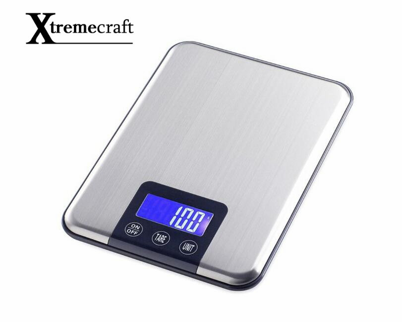 Xtremecraft 1g Touch Screen Digital Kitchen Scale 15kg Big Food Diet Weight Balance Slim Stainless Steel Electronic Scales 5kg 5000g 1g digital scale kitchen food diet postal scale electronic weight scales balance weighting tool led electronic wh b05