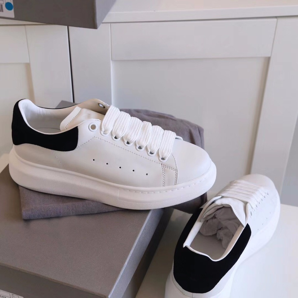 shaduo woman Summer Thick-sole anti-slip neutral fitness round lace-up sneakers leather stitching white shoes цена