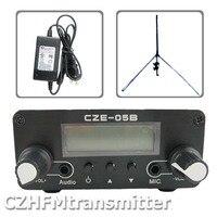 ערכת CZE 05B משדר FM 500 mw CZH 05B 0.5 w כסף + 1/4 גל GP אנטנה + ספק כוח|ציוד לשידור רדיו וטלוויזיה|מוצרי אלקטרוניקה לצרכנים -