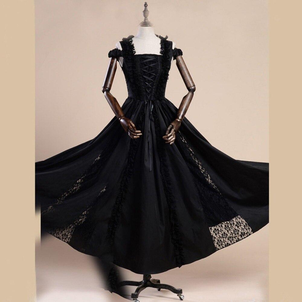 Летнее женское кружевное платье с вышивкой, винтажное готическое платье с открытыми плечами, вечернее платье, женское хлопковое длинное Ба