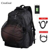 Multifunction Men Basket Ball Backpacks USB Charging Port School Bag For Teenager Boys S Occer Ball