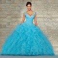 Vestidos quinceanera Vestidos de Baile Sweetheart Frisada Lace Up Doce 16 Vestido Vestidos De 15 Años vestido 15 anos 2016