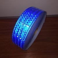 5CM*50M Fluorescent Reflective PVC Strip Night Reflective Safety Warning Tape Microprism Polyvinyl Chloride Lattice band