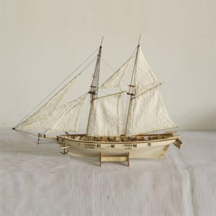 1/100 Wooden Sailing Ship Boat Model Kits DIY Assembly Kids Children Toy Decor Gift Offer English Instruction