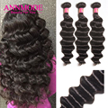 8А Класса Бразильские Свободная Волна 4 Пучки Queen Hair Products Необработанные Богородицы Человека Волнистые Бразильского Виргинские Волос Рыхлый Глубокий Волна