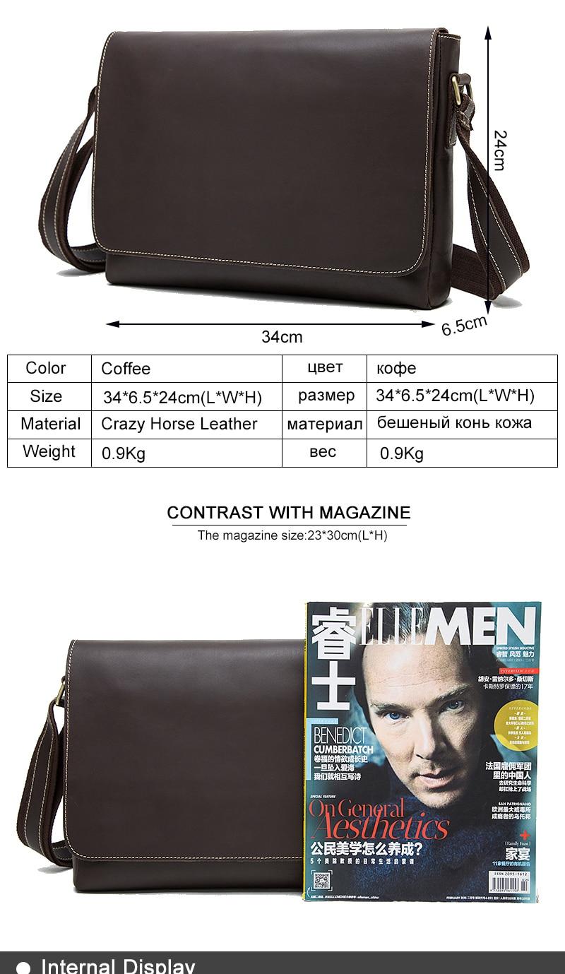 HTB14nt.RZfpK1RjSZFOq6y6nFXac WESTAL Men's Briefcases Laptop Bag Leather Lawyer/office Bags Messenger Bags Men's Crazy Horse Leather Briefcases Business Bag