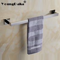 2018 Modern SUS 304 Stainless Steel Single Towel Bar Mirror Polished Towel Rack Bathroom Wall Mounted Towel Holder Bath Hardware