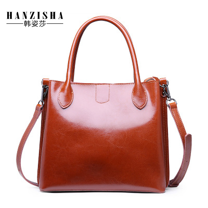 2018 Genuine Leather Women Handbag High Quality Female Bags For Women Shoulder Bag Fashion Brand Lady Casual Tote bolsos mujer genuine leather women bag 2018 summer handbag wrinkle skin female high quality cowhide shoulder crossbody bolsos mujer beach bag