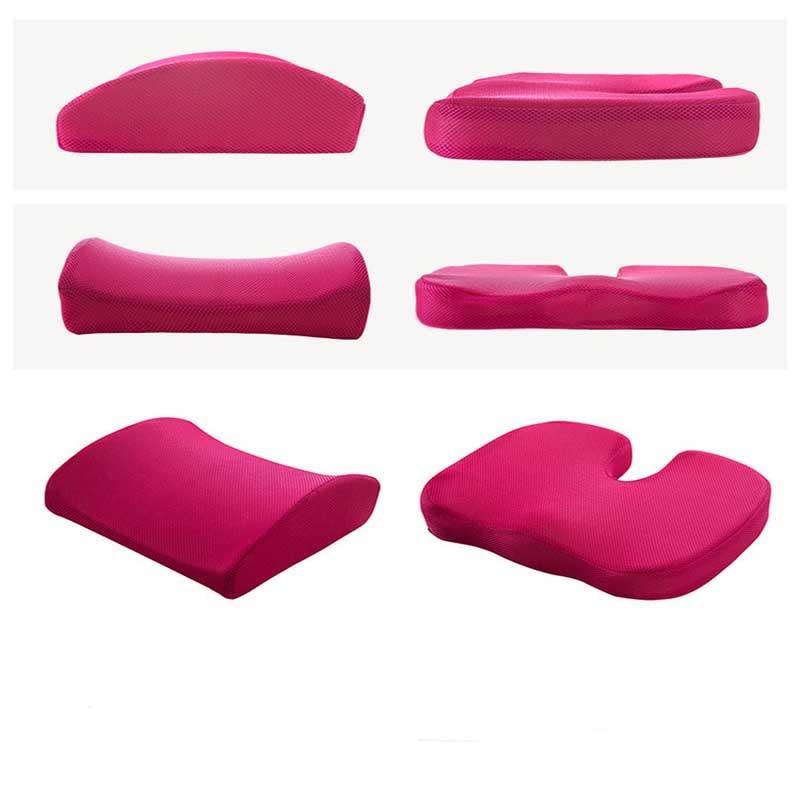 Car Seat Cushion Coccyx Orthopedic Memory Foam Seat Massage Chair Back Cushion Pad Office Massage Cushion