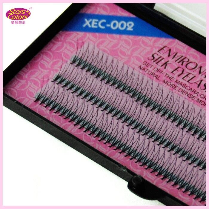 Hot Sale Eye lashes 8mm 10mm 12mm Environmental 6 Flares Silk Eyelash Criss Cross Design Individual natural false eyelashes
