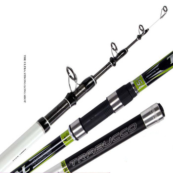 2pcs/pack 4.0M SK-SIC guides 150g lure weight telescopic casting fishing rod beach long shot carbon rod fishing tackle