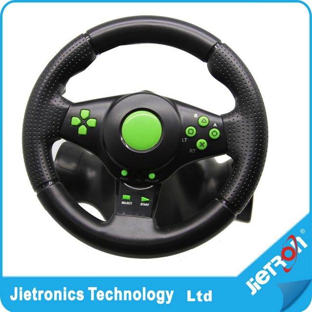 Hot Gaming Vibration Racing Steering Wheel (23cm) and Pedals for XBOX 360 PS3 PC USB