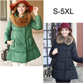 Plus size S-5XL Fur Collar clothes for pregnant Women Maternity Winter Down coat long jacket korean fashion coats outerwear