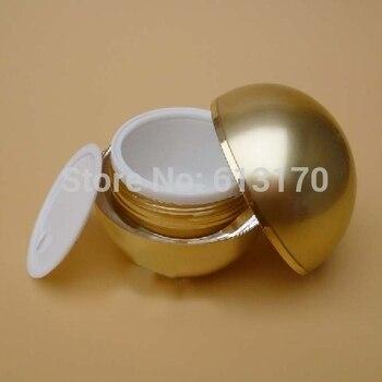 20pcs 15g Empty acrylic cream jar PMMA double wall Sphere Shape skin care cream container diy Nail art Glitter sample jar