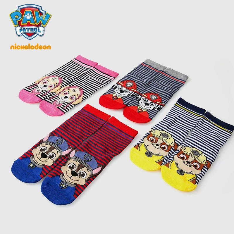 1pairs Genuine Paw Patrol Kids Socks Chase Marshall Skye Rubble Patrulla Canina Puppy Patrol Dog Model 2019 New Children's Toy