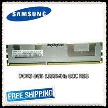 Samsung serveur mémoire DDR3 8GB 16GB PC3-10600R 1333MHz ECC REG registre RAMS DIMM RAM 240pin 10600 8G radiateur