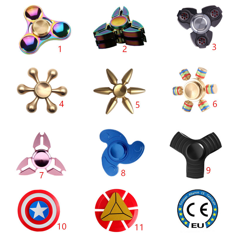 Hand Spinner EDC Fidget Spinner Metal Rainbow Spiner Anti-Anxiety Toy for Spinners Focus Relieves Stress ADHD Finger Spinner new metal triangle gyro edc hand spinner for autism and adhd anxiety gift stress relief focus toys antistress toy zjd