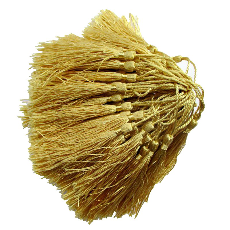100pcs About 12.5cm Golden Polyester Charm Tassel Home Curtain Accessories In Addition To Core Bookmarks Curtain 2026