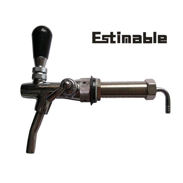 Homebrew Adjustable Chrome Plating Draft Beer tap Faucet with 4inch ...