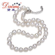 Daimi Genuine Baroque Pearl Necklace, Trendy Necklace For Woman, New Bijouterie Fine Jewelry 9-10 mm Pearl Choker Necklace