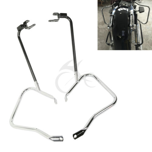 Saddlebag Bracket Guard Bars For Harley Touring Road King Electra Glide Street Road Glide Ultra FLHX 2014-2017