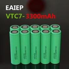 Электронные продукты EAIEP US18650VTC7 18650 3300 мАч, перезаряжаемые литиевые батареи большой емкости, мобильный аккумулятор, 10 шт.