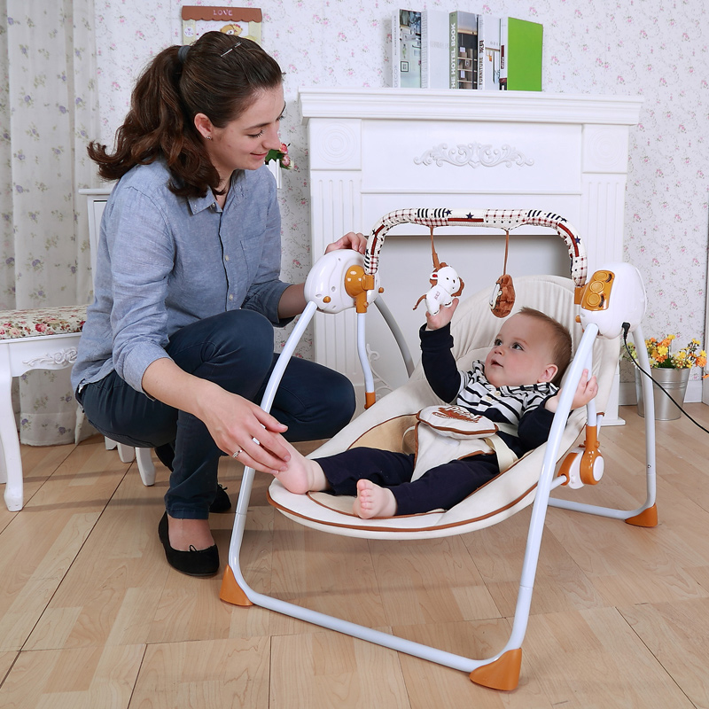 Free Shipping Ppimi Baby Rocking Chair Electric Cradle Bed Baby Cradle Chaise Lounge Baby Shaker Multifunctional Innrech Market.com