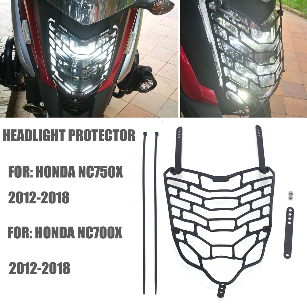 Grille Headlight Protector Head <font><b>Light</b></font> Guard Front Lamp Cover For <font><b>HONDA</b></font> NC700X NC 700X <font><b>NC750X</b></font> NC 750X 2012-2018 image