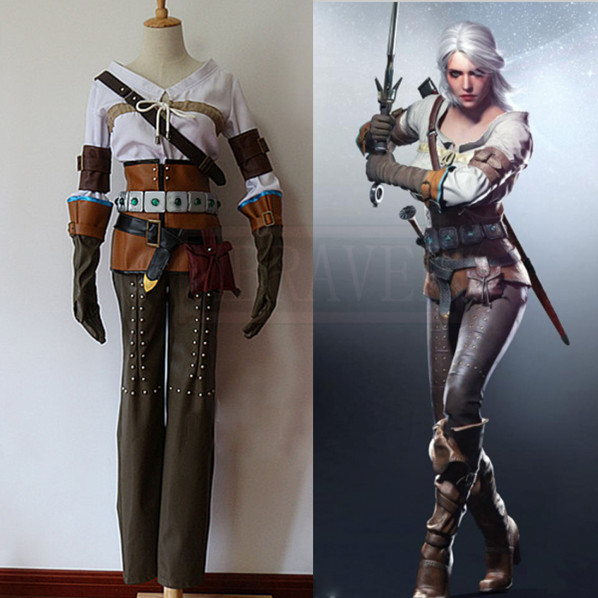 The Witcher 3 Wild Hunt Cirilla Fiona Elen Ciri Cosplay Costume Costume Costume pour femmes adultes sur mesure toute taille