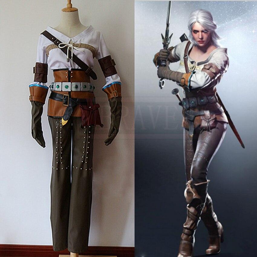 The Witcher 3 Wild Hunt Cirilla Fiona Elen Ciri Cosplay Costume Costume Costume pour femmes adultes sur mesure toute taille