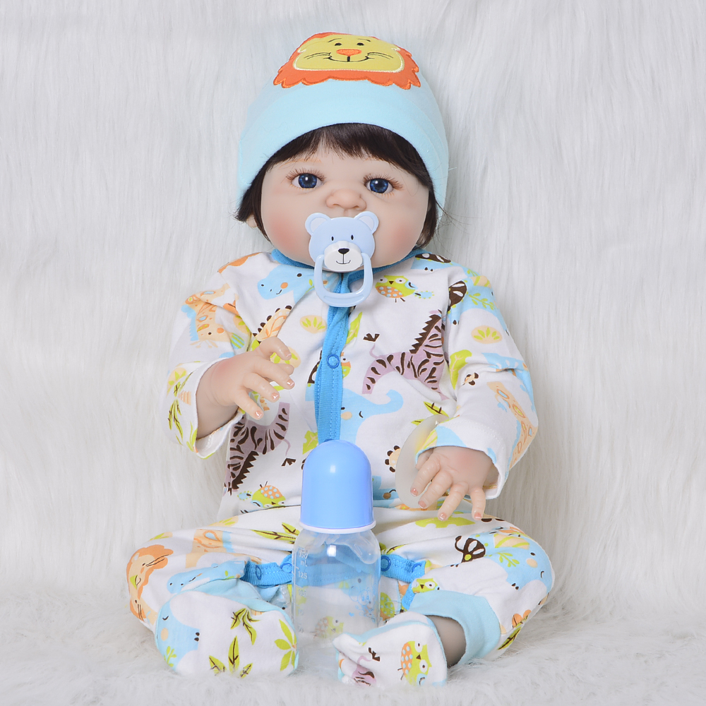 55cm Full Silicone Reborn Baby Doll Toy lifelike simulation vivid 23inch bathe Gift Present collection boy doll for sale toys55cm Full Silicone Reborn Baby Doll Toy lifelike simulation vivid 23inch bathe Gift Present collection boy doll for sale toys