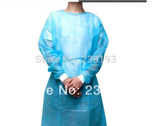 Waterproof style disposable Non-woven surgical gowns ,Oil pollution protective clothing ,50pcs dustproof apron, clean non point source pollution modelling with gis