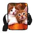 Cute Animal Women Messenger Bags Flower Cat Printing Children Kids Cross Body Bag for Girls Causal Shoulder Bags Mujer Bags Gift
