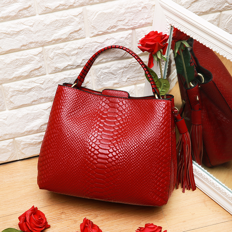 Bags For Women 2018 New products Alligator Cow Leather Handbag, Large Capacity Single Shoulder Messenger Bag Free shippingBags For Women 2018 New products Alligator Cow Leather Handbag, Large Capacity Single Shoulder Messenger Bag Free shipping