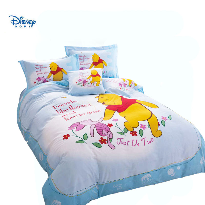 The Pooh Bear Bed Cover Light Blue Disney Winnie Bedding