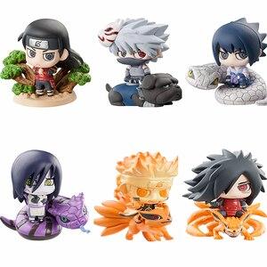 Image 3 - 6 teile/satz Pop Naruto Sasuke Uzumaki Kakashi Gaara Action Mit Halterungen Figuren Japan Anime Sammlungen Geschenke Spielzeug WX171