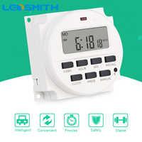 LEDSMITH TM618H-2 220V AC 16A Digitale Zeit Relais 7 Tage Programmierbare Timer Schalter Wöchentlich Zyklus Timer Schalter Hohe Qualität