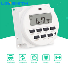 LEDSMITH TM618H-2 220V AC 16A Digital Time Relay 7 Days Programmable Timer Switch Weekly Cycle Timer Switch High Quality ahc15 ac 220v digital lcd power timer programmable time switch relay 25a 16a good temporizador with din rail good quality