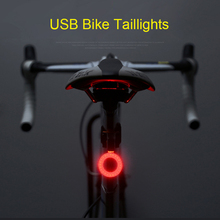 Фотография  Bicycle Light Bike Cycling Waterproof Taillighti Bike light Warning Lamp With USB Rechargable Safety Night Riding Rear Light
