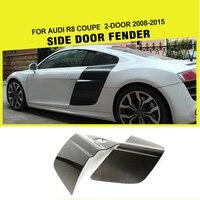 Углеродного волокна Гонки сбоку дверные решетки лезвие панели вспышки для Audi R8 V8 V10 2 двери 2008 2015 стайлинга автомобилей 2 шт./компл.