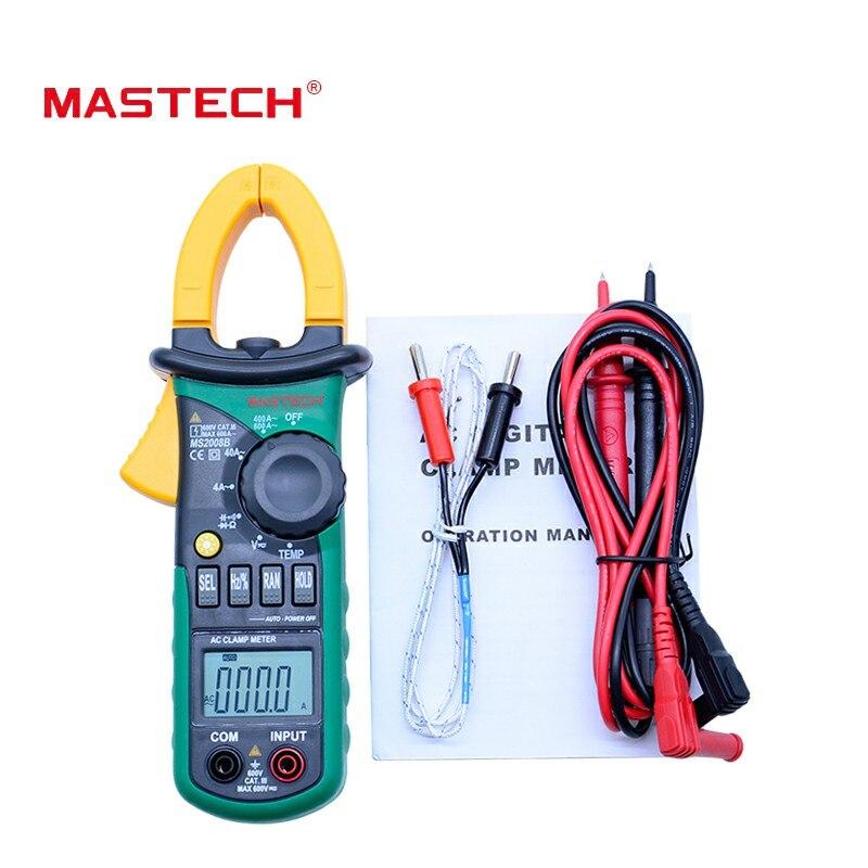 MASTECH MS2008B Multimètre Numérique Amper Pince Multimètre Courant Pince Pinces AC Courant AC/DC Tension Condensateur Testeur de Résistance