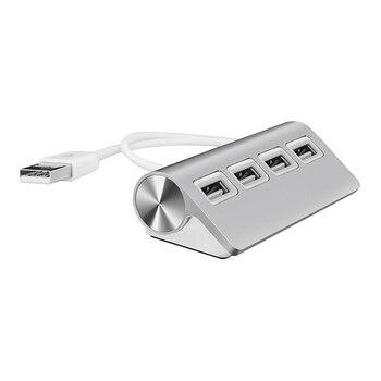 HUB USB, Hub USB Premium de aluminio de 4 puertos con Cable blindado de 11 pulgadas para iMac, MacBook, Uds. Y portátiles