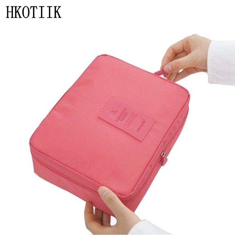 HKOTIIK high quality fashion cosmetics bag travel cosmetics necessities color tissue box men hand washing bag