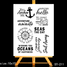 ZhuoAng Nautical story Clear Stamps/Card Making Holiday decorations For  scrapbooking Transparent stamps