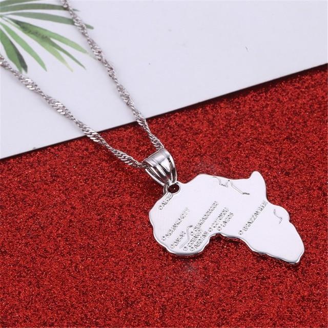 Africa Pendant Silver Rose Gold Color Wholesale Hippie Necklace